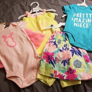 3 Carter's 3 month outfits  & Onsie